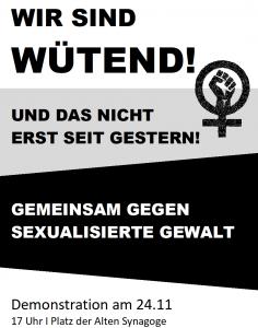 Demonstration gegen sexualisierte Gewalt