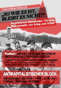 """Der 1.Mai in Freiburg: """"So, wie es ist, bleibt es nicht…"""""""