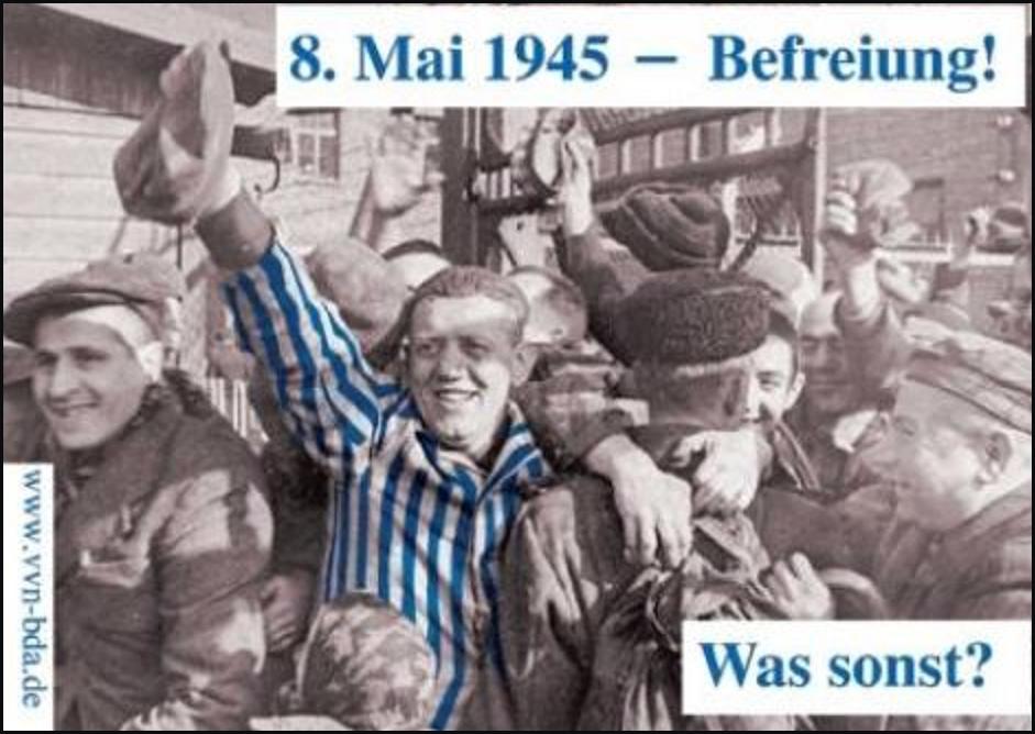 """Damals wie heute — Faschismus bekämpfen! – Kundgebung am """"Tag der Befreiung"""""""