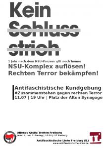 Kein Schlussstrich! – Nazi Netzwerke aufdecken und zerschlagen!