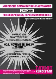 """21.11: Veranstaltung """"Kurdische Demokratische Autonomie zwischen Friedensprozess, Repression und Krieg"""""""