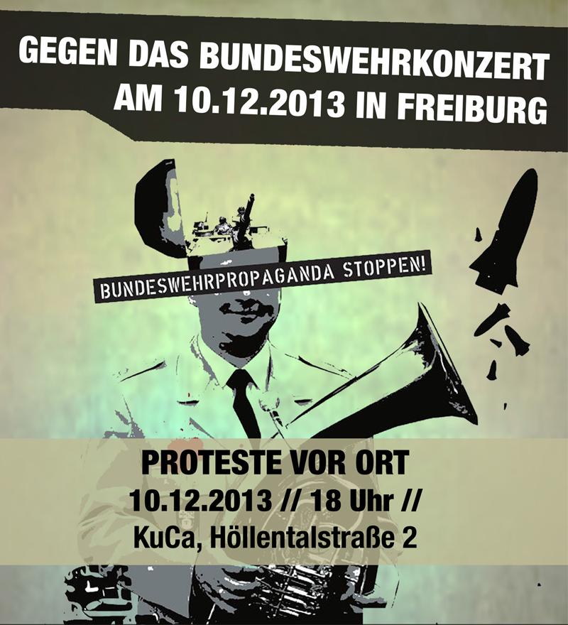 10.12. Gemeinsam gegen das Bundeswehr-Konzert in Freiburg!