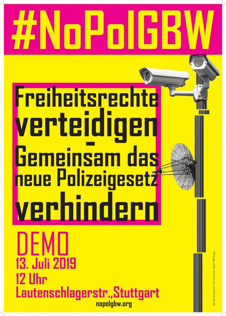 #NoPolGBW – Landesweite Demo gegen das neue Polizeigesetz
