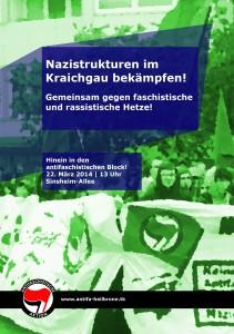 Nazistrukturen im Kraichgau bekämpfen – Gemeinsam gegen faschistische und rassistische Hetze!