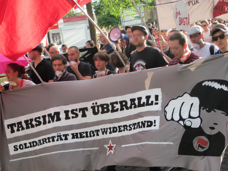 """Bericht der Demonstration """"Taksim ist überall! Solidarität heißt Widerstand!"""""""